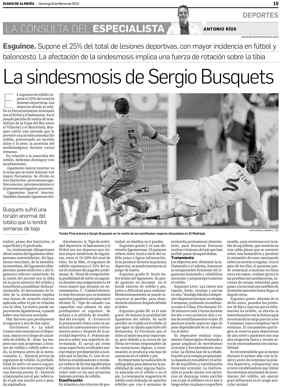 La sindesmosis de Sergio Busquets - Clínica Traumatológica Doctor ...